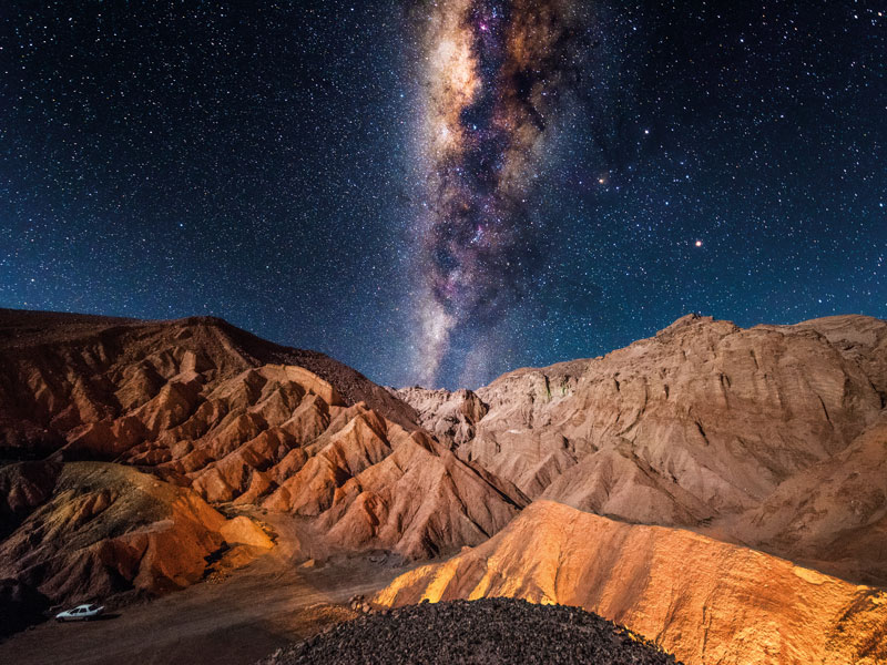 The Milky Way, as seen from the Valley of Death, San Pedro de Atacama, Chile