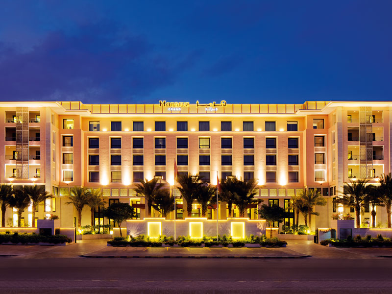 Located at the entrance to Muscat's business district, Hormuz Grand Hotel occupies a prominent position in the market
