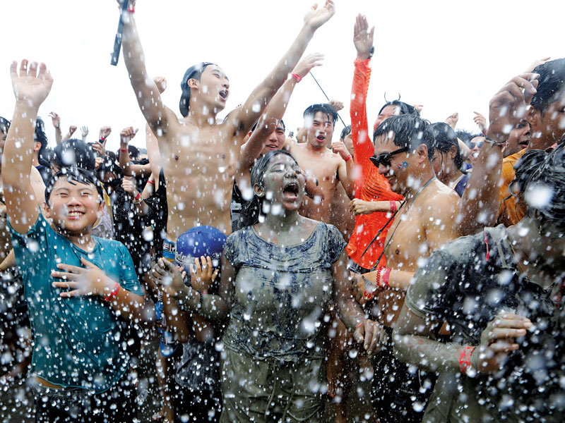 Each year, millions of people head to Daecheon Beach to immerse themselves in the Boryeong Mud Festival