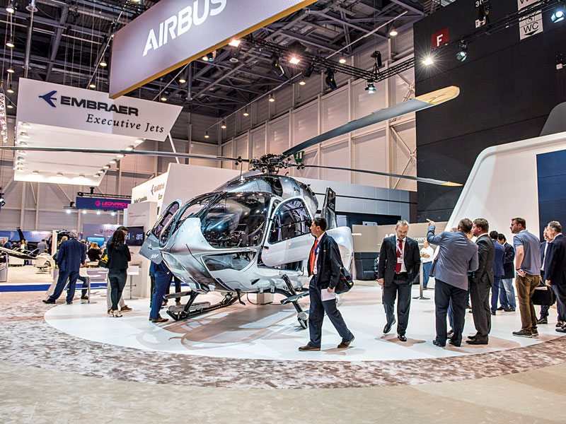 EBACE, held in Geneva's Palexpo, brings together people involved in nearly every aspect of business aviation