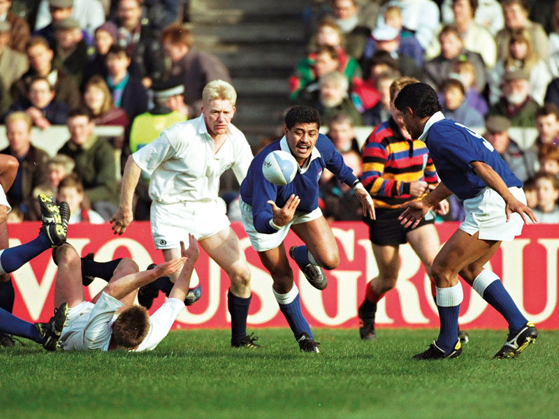 Western Samoa Vs Scotland In The 1991 Rugby World Cup Quarter Final