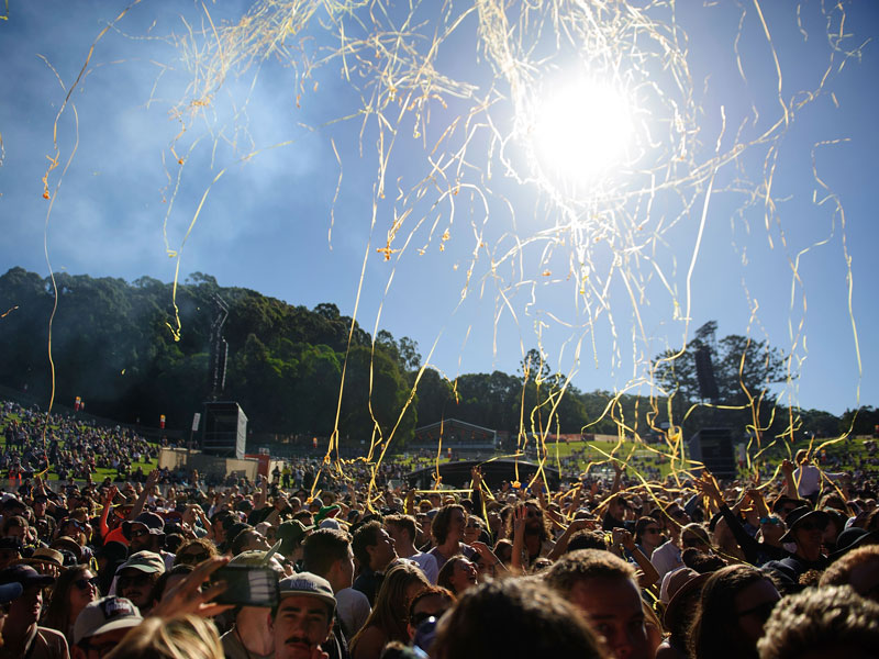 Splendour on the Green festival, Australia. With a focus on offsetting its carbon footprint, Splendour on the Green is one of the most eco-friendly festivals running