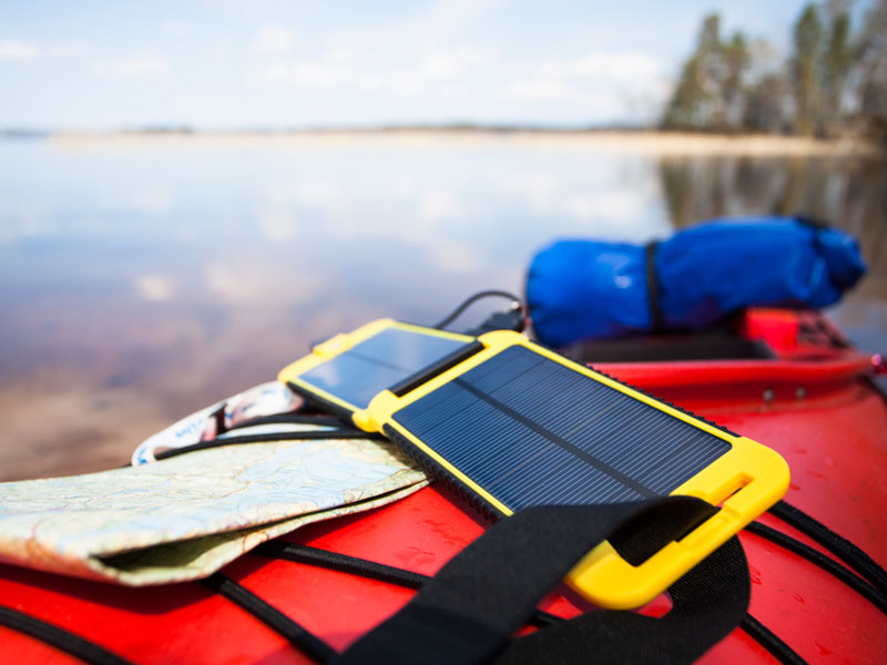 Solar-powered portable chargers offer charging capabilities in the most remote destinations, allowing travellers greater freedom