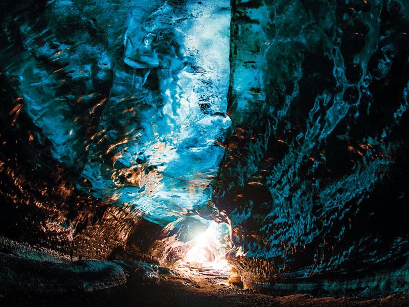 Crystal Cave in Vatnajökull  glacier, Iceland