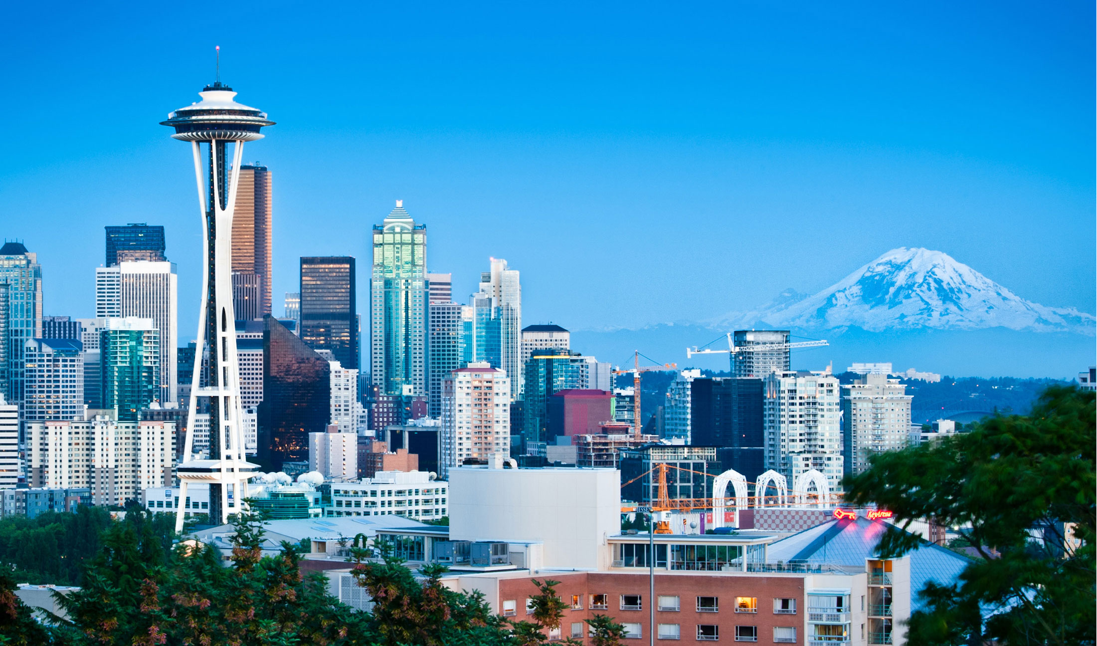 Amazon, Microsoft and T-Mobile are all based in or near Seattle. Their presence has played a significant role in Seattle becoming the US' fastest-growing big city in the last decade