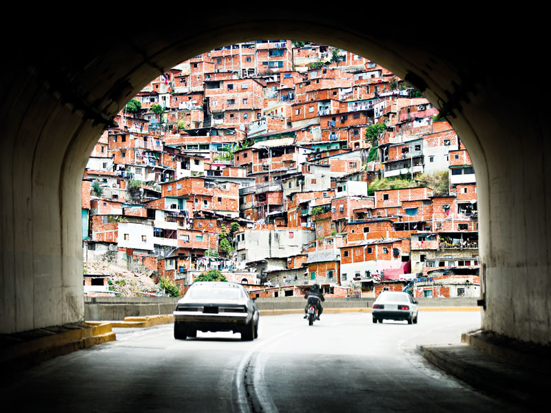 Poverty leads to architectural chaos in Caracas, the capital of Venezuela