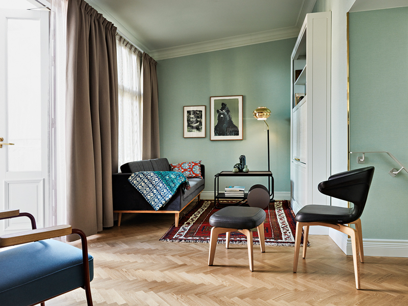 Set in the former home of the Finnish Literature Society, Hotel St George boasts a trademark design created by the celebrated Finnish architect Onni Tarjanne