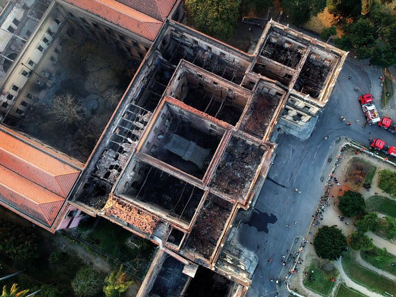 The fire that ravaged Brazil's National Museum in September 2018 destroyed around 90 percent of the 20 million items held in the building